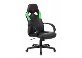 Кресло игровое Бюрократ ZOMBIE RUNNER черный/зеленый искусственная кожа крестовина пластик