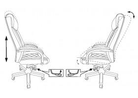 Кресло руководителя Бюрократ T-9924WALNUT светло-коричневый Leather Eichel кожа с подголов. крестовина металл/дерево