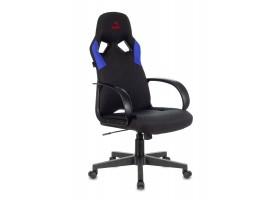 Кресло игровое Бюрократ ZOMBIE RUNNER черный/синий текстиль/эко.кожа крестовина пластик