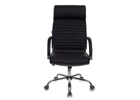 Кресло руководителя Бюрократ T-8010SL/BLACK черный искусственная кожа крестовина хром