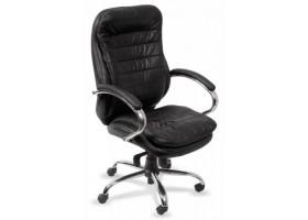 Кресло руководителя Бюрократ T-9950AXSN/Black натуральная кожа