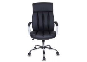 Кресло руководителя Бюрократ T-8000SL черный искусственная кожа крестовина хром