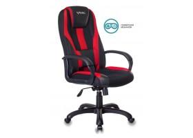 Кресло игровое Бюрократ VIKING-9 черный/красный искусст.кожа/ткань