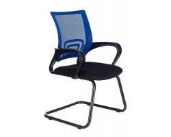 Кресло Бюрократ CH-695N-AV синий TW-05 сиденье черный TW-11 полозья металл черный