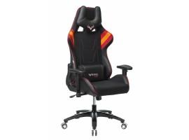 Кресло игровое Бюрократ VIKING 4 AERO две подушки черный/красный искусст.кожа/ткань