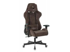 Кресло игровое Бюрократ VIKING KNIGHT темно-коричневый Light-10 крестовина металл