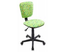 Кресло детское Бюрократ CH-204NX зеленый кактусы