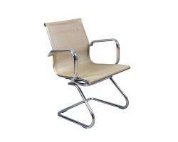 Кресло Бюрократ CH-993-Low-V золотистый сетка низк.спин. полозья металл хром