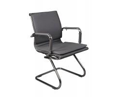 Кресло Бюрократ CH-993-Low-V серый искусственная кожа низк.спин. полозья металл хром