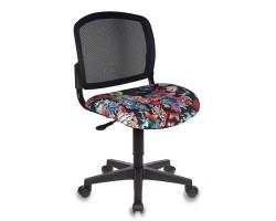 Кресло детское Бюрократ CH-296NX черный сиденье черный черепа крестовина пластик