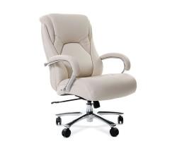 Кресло для руководителя CHAIRMAN 402, белая натуральная кожа