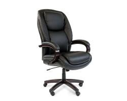 Кресло для руководителя CHAIRMAN 408, черная кожа