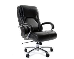Кресло для руководителя CHAIRMAN 402, черная натуральная кожа